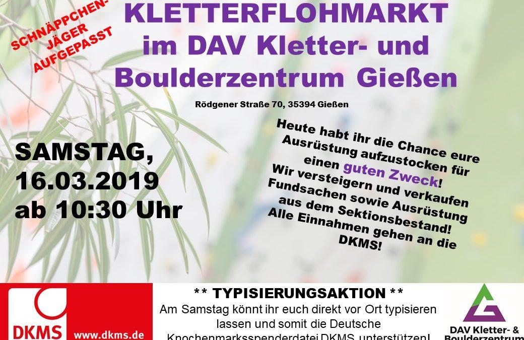 KLETTERFLOHMARKT  im DAV Kletter- und Boulderzentrum Gießen