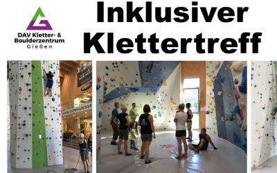 Inklusiver Klettertreff für Menschen mit und ohne Behinderung