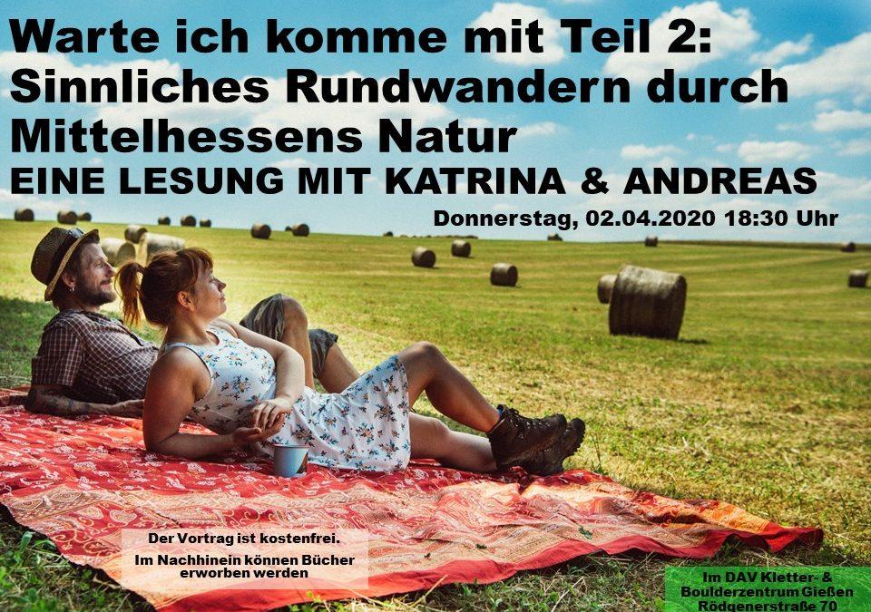 """Lesung """"Sinnliches Rundwandern durch Mittelhessens Natur"""""""